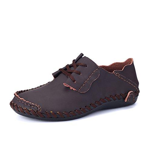 Sólido Eu Hasta Ruiyue Tamaño De Color Cargador Marrón Con Zapatos 47 Hombre Mocasines color Tacón Plano 45 Negocios Negro Cordones vvq7UAPn