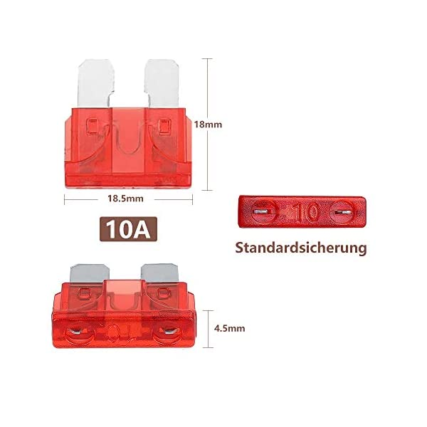 41dVi7MGAdL Rovtop 150 Stück Standard Auto Sicherungen KFZ Sicherungen Set maßgebend Autosicherungen 2A 3A 5A 7.5A 10A 15A 20A 25A…