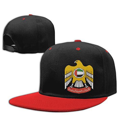 Childaren Coat of Arms of United Arab Emirates Outdoor Hip Hop Golf Cotton Snapback Hat Adjustable Red