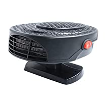 xxiaoTHAWxe Car Heater Defroster, Portable 12V 150W 2 in 1 Auto Car Heater Cooling Fan Defroster Defrost Windscreen Window Demister, Heating Quickly, Low Noise Black