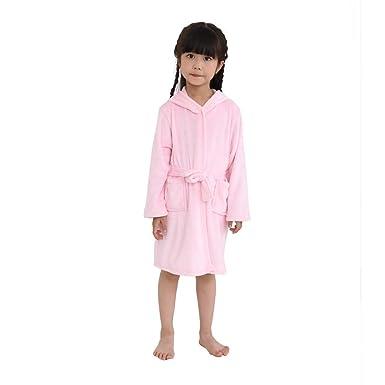 DarkCom Albornoz para Niños con Capucha Ropa de Dormir Bata Pijamas para Niños y Niñas Albornoces Infantiles: Amazon.es: Ropa y accesorios