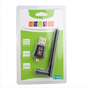 Alician AC600Mbps USB2.0 Dual Band 2.4G//5G WiFi Adapter 802.11ac Wireless Network Card