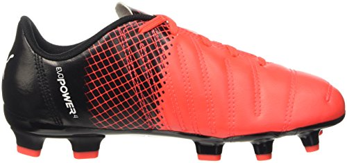 Puma - Botas de fútbol evoPOWER 4.3FG Jr Red Blast/Bianco/Nero
