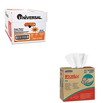 kitkim34790ctunv21200 - Value Kit - Kimberly Clark WYPALL X60 Limpiaparabrisas (kim34790ct) y Universal copia papel (unv21200): Amazon.es: Oficina y ...