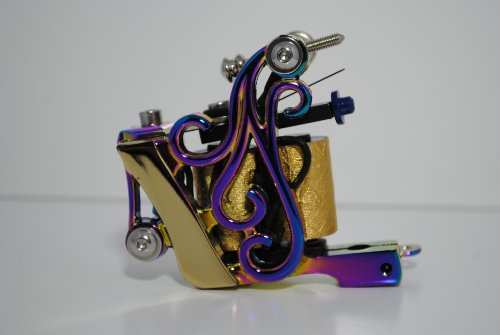 1TattooWorld Premium Copper Wire Coils Tattoo Machine Liner & Shader, Colored, OTW-M303-1