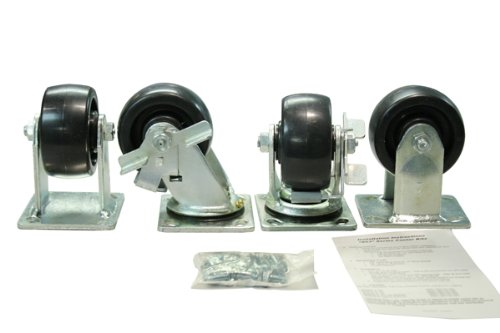 4'' Job Box Caster Kit with Brakes by Conveyer & Caster