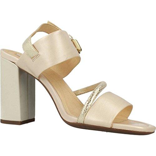 GEOX Sandalias de vestir para mujer, color gold, marca, modelo Sandalias De Vestir Para Mujer D AUDALIES HIGH SAND Gold