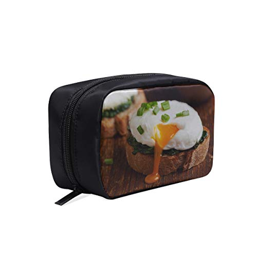 Frying Eggs Breakfast With Parsley Portable Travel Makeup Cosmetic Bags Organizer Multifunction Case Small Toiletry Bags For Women And Men Brushes Case (Best Onions For Frying)