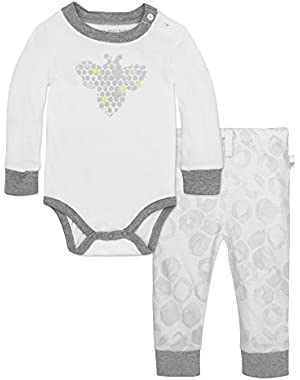 Baby Organic Long Sleeve Bodysuit and Jogger Pant Set