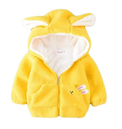 2fc1c3451ce73 (ジュンィ) こども服 ベビー フード付きコート パーカー 綿 暖かい 裏起毛 ふわふわ アウター