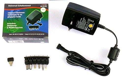 Universal Steckernetzteil 9V 12V 13,5V 15V 18V 20V 24V DC 1500mA (max.) Schaltnetzteil profitec MW 924 EuP