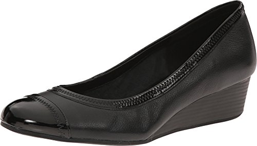 Cole Haan Womens Elsie Cap Toe Wedge 40mm 8 Black