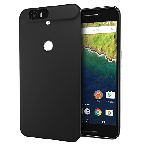 Nexus 6P Case, Cimo [Matte] Premium Slim Fit Flexible TPU Cover for Huawei Google Nexus 6 (2015) - Black