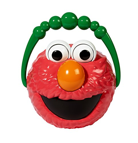 (Little Kids Sesame StreetGiggle and Speak Elmo No-Spill Motorized Bubble Machine with 4 oz Bubble Solution Toy,)