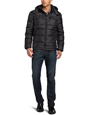 Kenneth Cole Men's Down Jacket, Black, Small