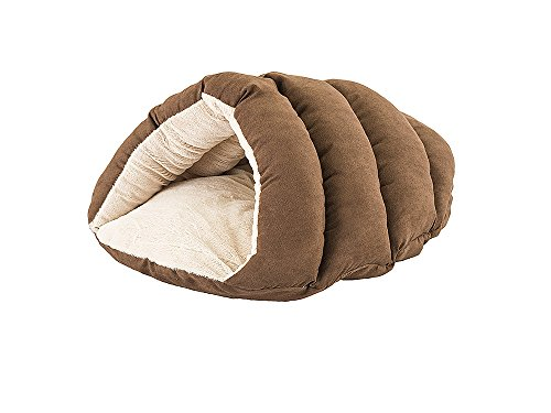"Ethical Pets Sleep Zone Cuddle Cave Pet Bed, 22"", Chocolate"