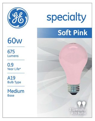 60 watt soft pink bulbs - 4