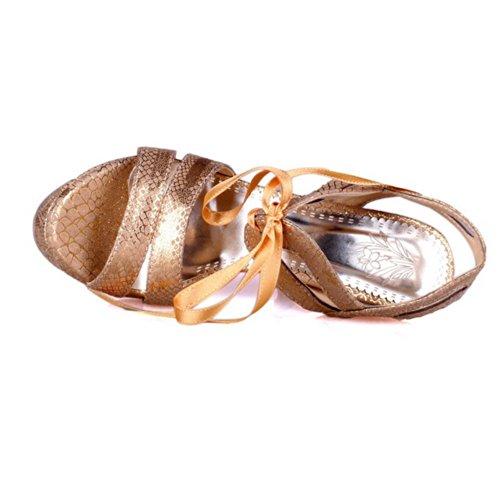 3 Sandaler Med Lakk Pu 5 Uk Faste Bandasje Tå Stilett Kvinners Gull Voguezone009 Åpen Plattform Hæl Høy q6wgPBv