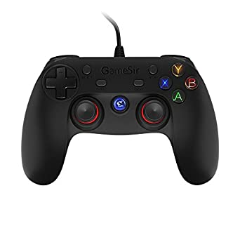 GameSir G3w Wired PC Game Controller Dual Shock Joystick Gamepad for PC Windows 7/8/8.1/10 & Android Smartphone/ Tablet/ TV BOX & PS3