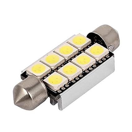 eDealMax 41mm Blanco 5050 8 LED de la bóveda del Adorno Luz Interior
