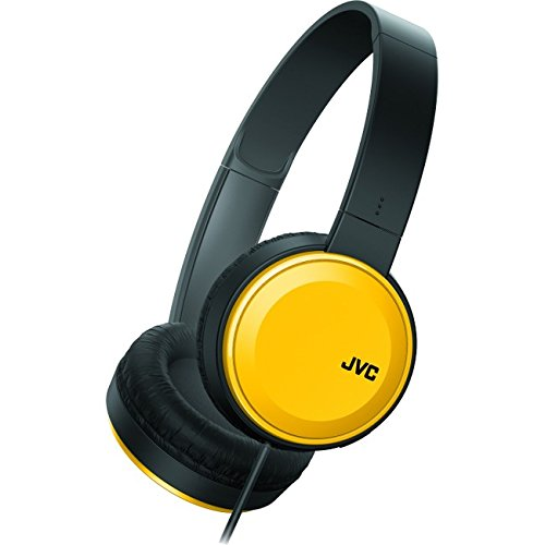 Jvc Folding Headphone (JVC Lightweight Flat Foldable On Ear Colorful Lightweight Headband w Mic, Yellow (HAS190MY))