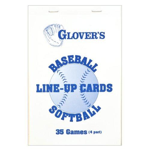 Glovers Scorebooks Baseball/Softball Line-Up Cards, Large (5.5x 8.5, 4 part) by Glover's Scorebooks ()