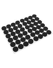 Schone rubberen voetjes 1 zak van 48 stuks 2 cm met zelfklevende vloerbeschermers voor meubels met Trp-rubber (zwart)