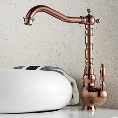 JIAHENGY Sink Mixer Faucet tap Creative modern trend fashion simple Single Hole Rose gold Plate Waterfall Basin Deck Mount Toilet Kitchen bathroom