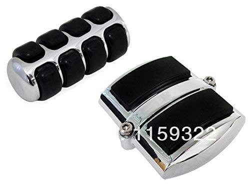 Footrest Shifter - Chrome Motorcycle Gear Shift Lever Brake Shifter Peg Footrest Pedal Cover for Yamaha V-Star 650 2001-2010 Classic 950 1100 1300