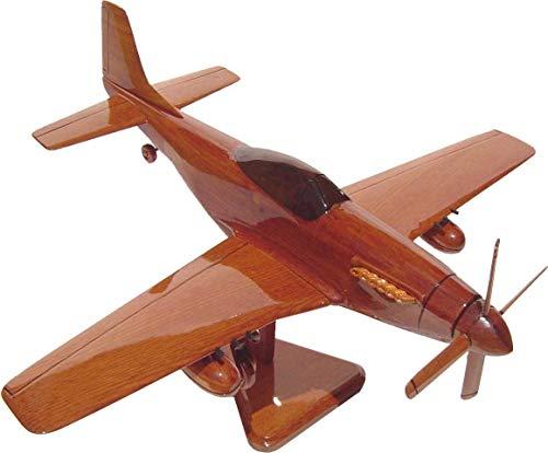 P51 Mustang Mahogany Wood Desktop Airplane Model