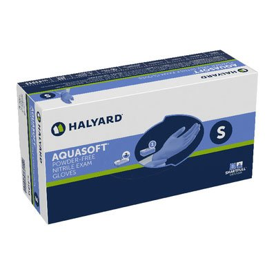 HALYARD AQUASOFT Nitrile Exam Gloves, Powder-Free, 3.1 mil, Small, 43933 (Case of 3000) by HALYARD (Image #1)