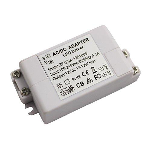 LEDIARY LED Power Supply Driver Transformer 10W 12V DC for LEDs, Including LED Strip Lights and G4, MR11, MR16 LED Light Bulbs (Light Strip Mr16)
