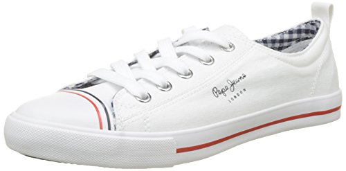 Bianco Basse Donna Ginnastica Gery Da Scarpe Jeans Pepe white Bass nYx18wfF0q