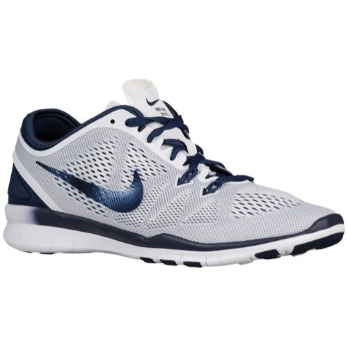 Nike Free 5.0 TR Fit 5 Women's Cross Training Shoes (5, WHITE/MIDNIGHT NAVY) by Nike (Image #1)