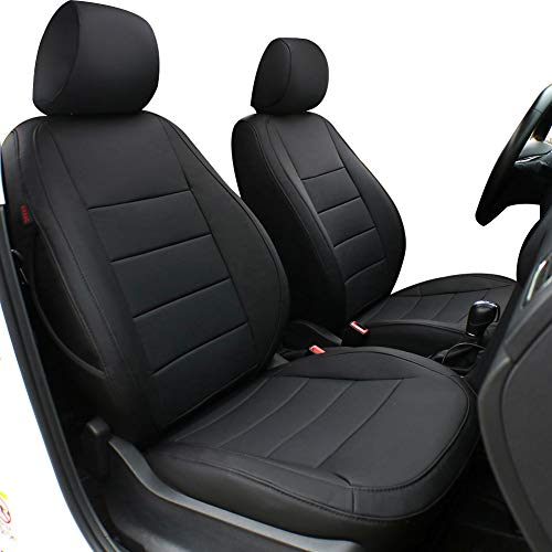 Lingyue Full Set Leatherette Custom Fit Car Seat Cover for Rogue 2014 2015 2016 2017 2018 2019, Airbag Compatible, Black - Sport Set Upholstery Seat
