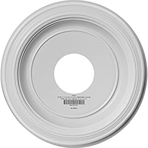 Ekena Millwork CMP13TR Traditional Thermoformed PVC Ceiling Medallion, 13″OD x 3 1/2″ID x 1 1/4″P (Fits Canopies up to 7 1/2″), White