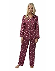 Ladies pyjamas pajama satin cuddleskin 14 16 18 20 22