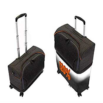 Image of Luggage FUGU Luggage ROLLUX Expandable Suitcase! Trendy Luggage That Doubles in Size - Fashionable Suitcase - Carry on Luggage to Full Suitcase - USB Port - Water Resistant - Modern Luggage