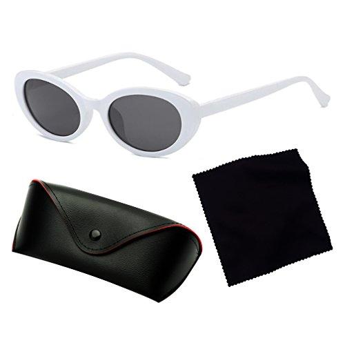 New Oval Full Gafas Style Glasses Look De UV400 C1 Vintage Classic Adultos Unisex Vintage Sol Fashion Retro rxgBwTr