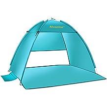Alvantor Beach Tent Super Bluecoast Beach Umbrella Outdoor Sun Shelter Cabana Automatic Pop Up UPF 50+ Sun shade Portable Camping Fishing Hiking Canopy Easy Setup Windproof PATENT PENDING 3 or 4 Perso