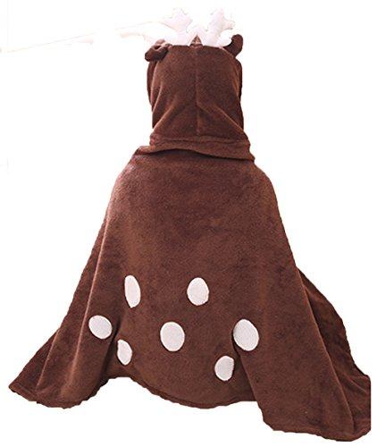 Tres Chic Mailanda - Poncho con diseño de animal para disfraz Reno