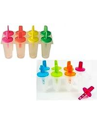 PickUp 8 Freezer Ice Pop Maker Mold Popsicle Yogurt Ice Cream Frozen Pops Cake Treats compare