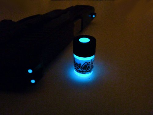 GLOW-ON BLUE COLOR, Super Phosphorescent Gun Sights Paint Small 2.3 ml vial
