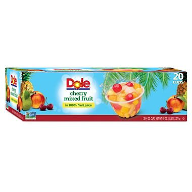Dole Cherry Mixed Fruit (4 oz. cups, 20 ct.) - SCL by Europe Standard