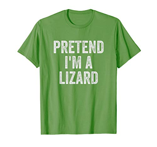 Lazy Halloween Costume Shirt Pretend I'm A Lizard Gift T-Shirt]()