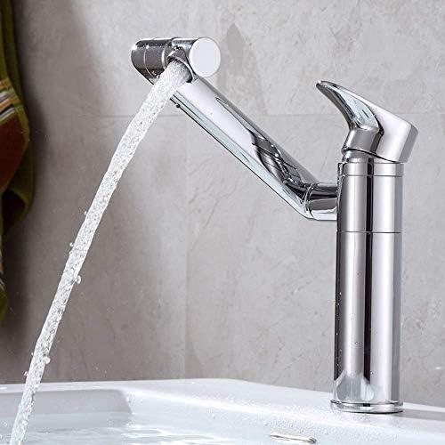 水タップ便利なホットとコールドの洗面器の蛇口、フル銅ラッキー猫360度回転洗面器洗面器の蛇口、シルバー、サイズ20 * 5 * 6.5 cm実用的なキッチン浴室用品キッチン浴室用品キッチン浴室用品