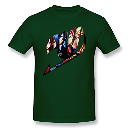 VJJ AIDEAR Fairy Tail 100% Organic Cotton O-Neck T Shirts for Men Forest Green 29