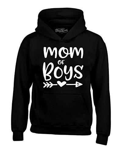 shop4ever Mom of Boys Hoodie Sweatshirts XXX-LargeBlack 0
