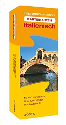 Karteikarten Expresswortschatz, Italienisch: Für Anfänger, Wiedereinsteiger und Schüler der 5. bis 8. Klasse