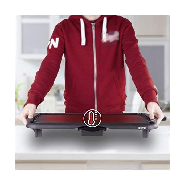 Duronic GP20 Piastra elettrica da tavolo anti aderente 2000W Piastra per teppanyaki superficie grill da 52 x 27 cm con… 3